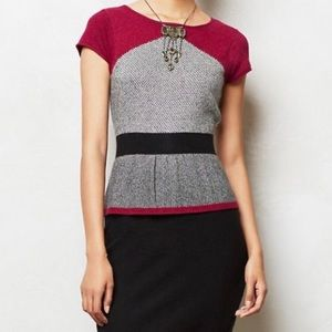 Anthropologie Sparrow Serena Peplum Office Dress